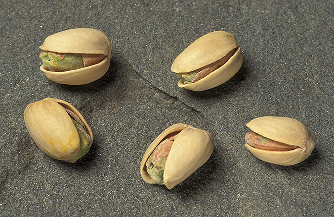 Cracked pistachios