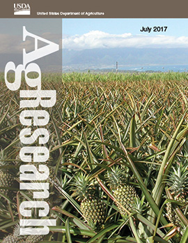 July  2017 cover of AgResearch magazine.